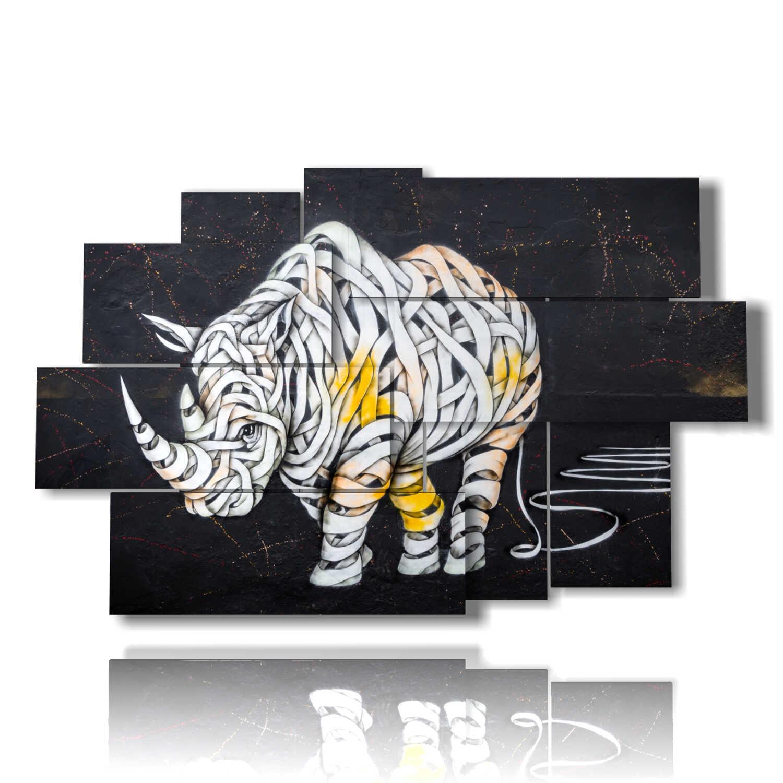 abstract animal blindfolded rhino