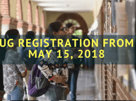 UG Registration From May 15, 2018