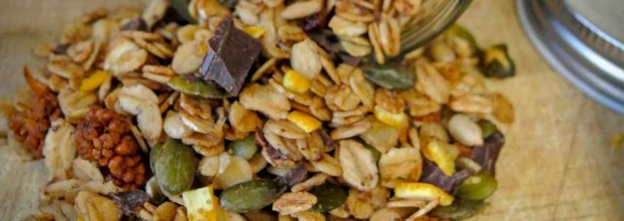 Sinaasappel granola met chocolade | Duurzamekeuzes.com