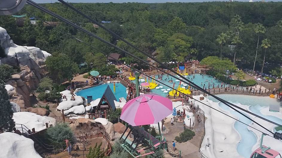 Blizzard Beach pools and water slides.