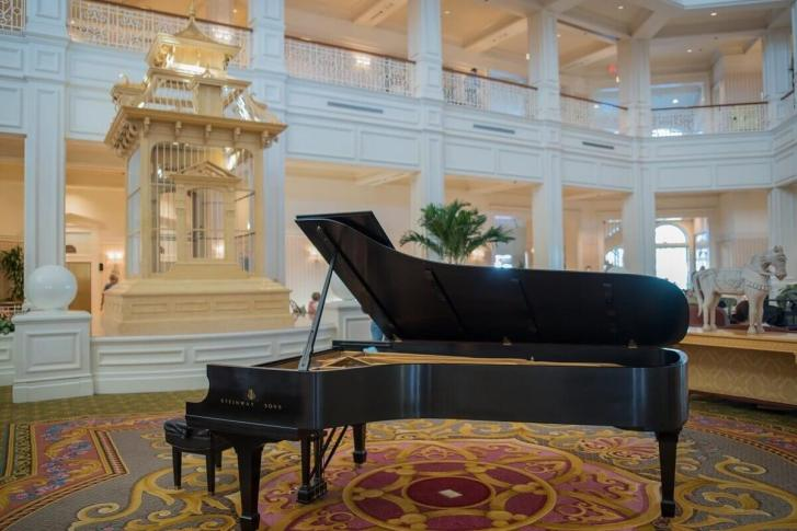 Grand Floridian Resort Lobby with Grand Piano
