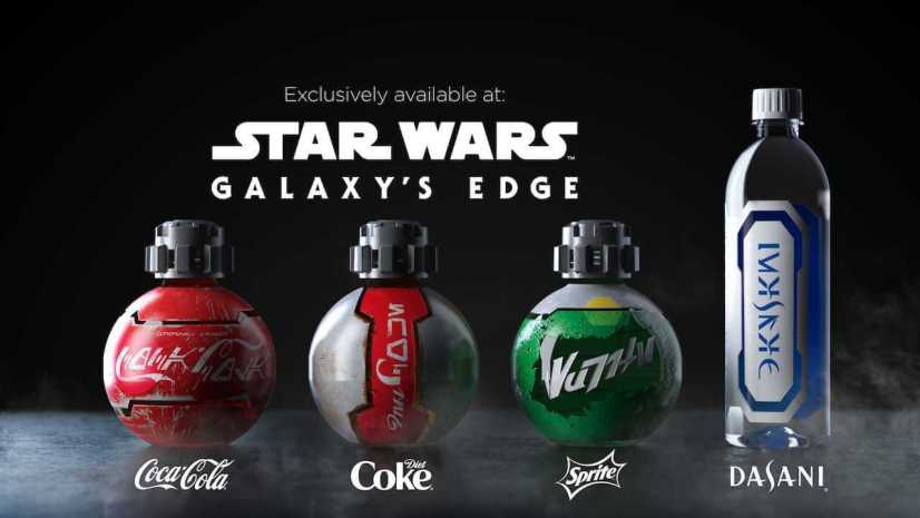Star Wars Land Coke, Diet Coke, Sprite, and Dasani Bottles