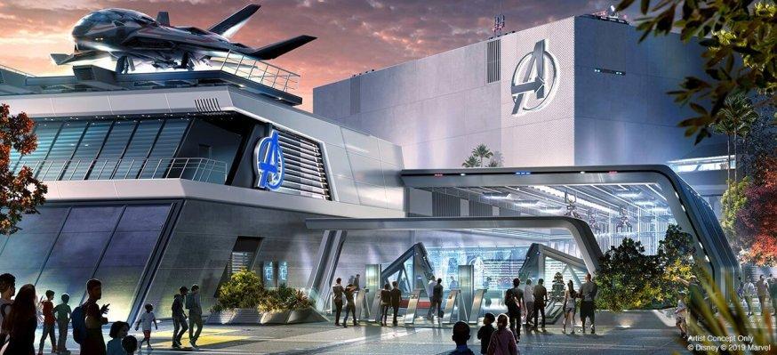 Avengers ride at disney land mockup art