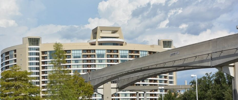 View of the monorail line at Bay Lake Tower at Walt Disney World
