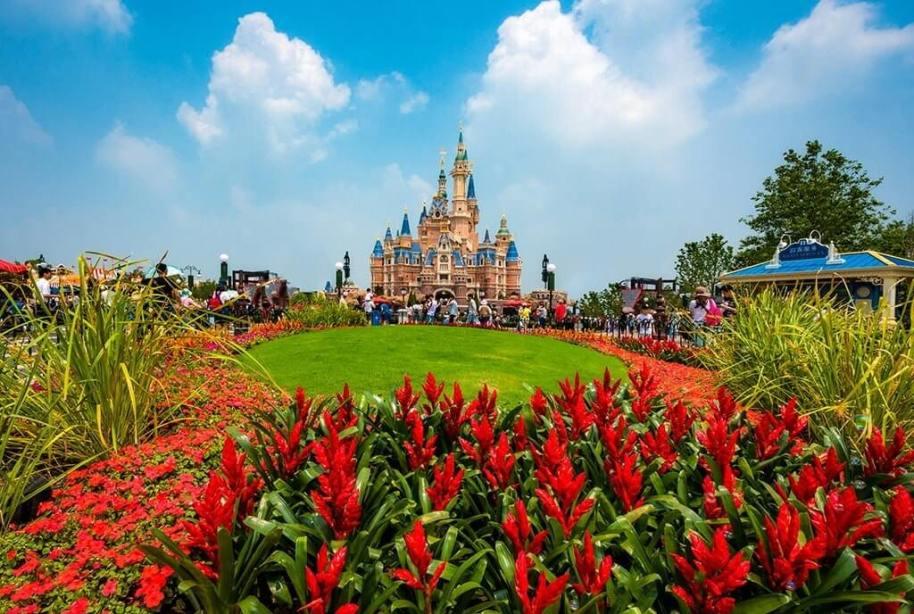 Disney's Cinderella Castle from afar