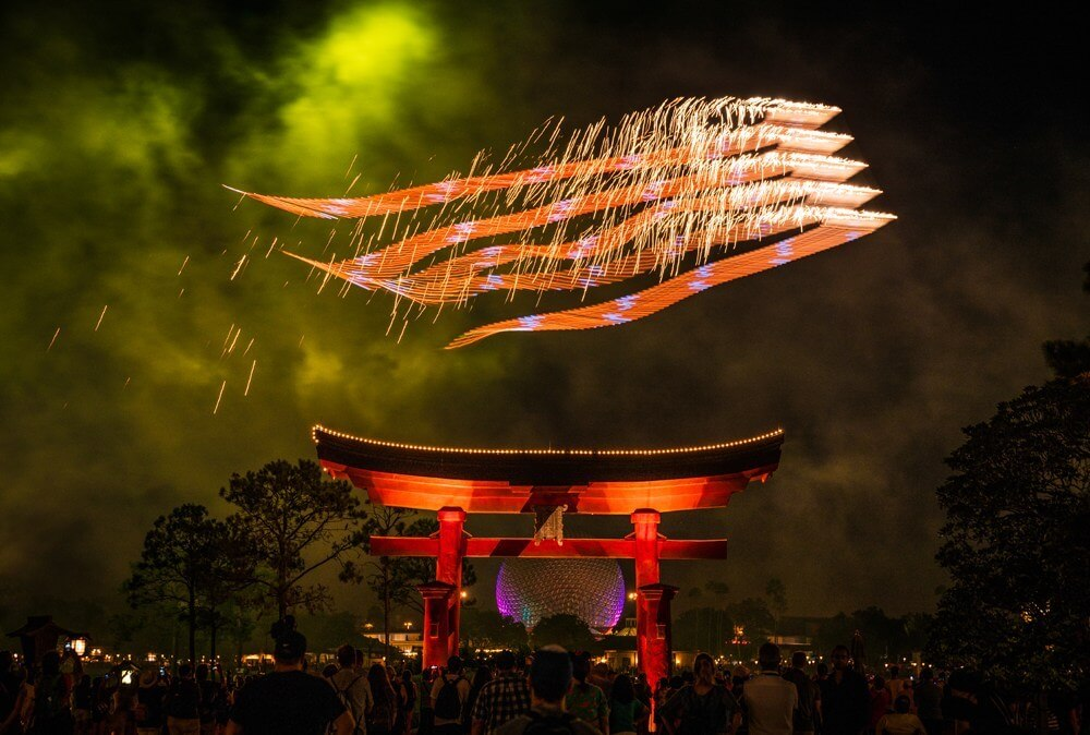 Epcot Forever fireworks at Disney World Orlando, Florida