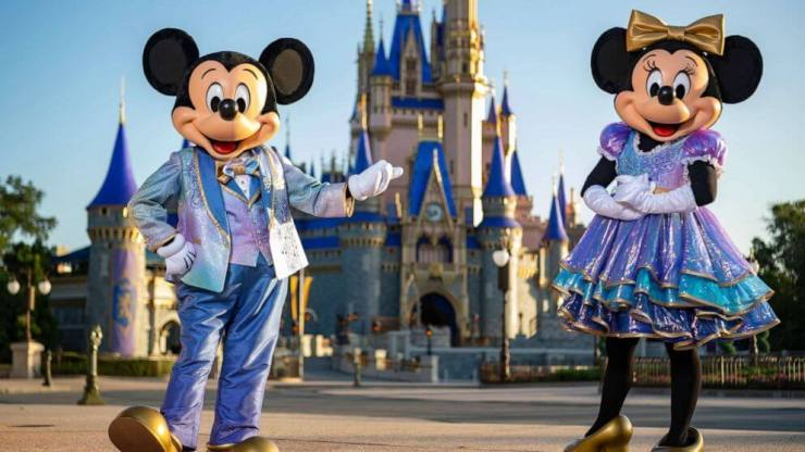 Mickey and Minnie's EARidescent outfits for 50th Birthday Celebration