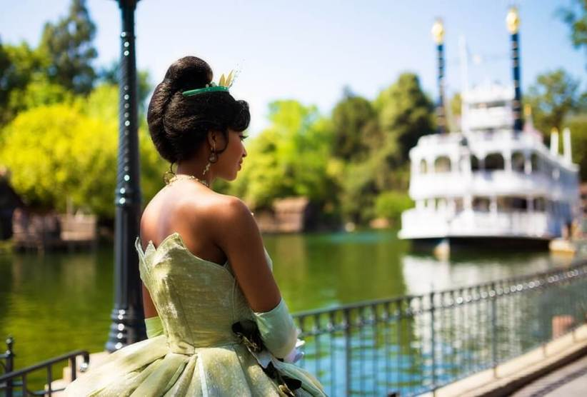 Tiana pictured at Walt Disney World