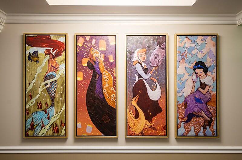 Princess-themed art at Disney's Riviera Resort