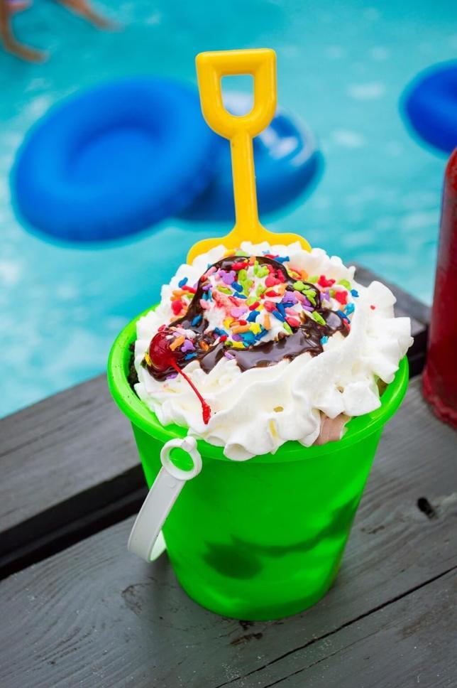 Bucket of ice cream at Blizzard Beach