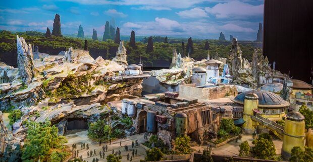 Star Wars Land Galaxy's Edge Model