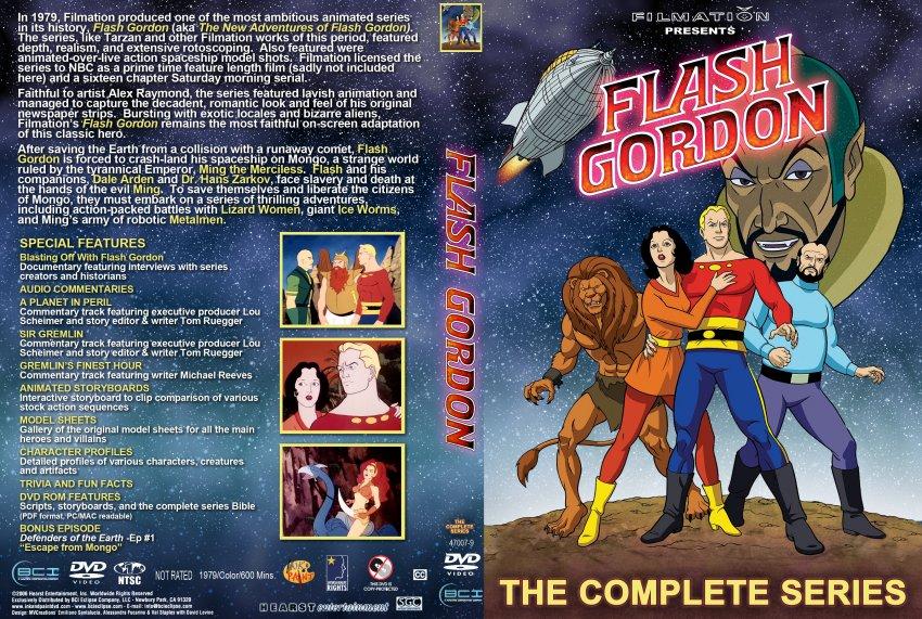 Flash Gordon Animated  TV DVD Custom Covers  348FlashGordonAnimated  DVD Covers