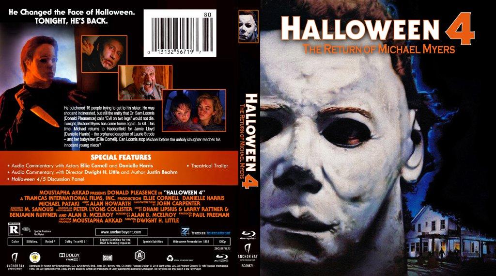 Digipack / halloween 4 : Halloween 4 The Return Of Michael Myers Movie Blu Ray Custom Covers Halloween 4 Dvd Covers