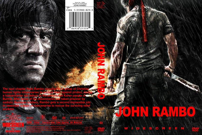 John Rambo - Movie DVD Custom Covers - Rambo IV cstm muzzy ...