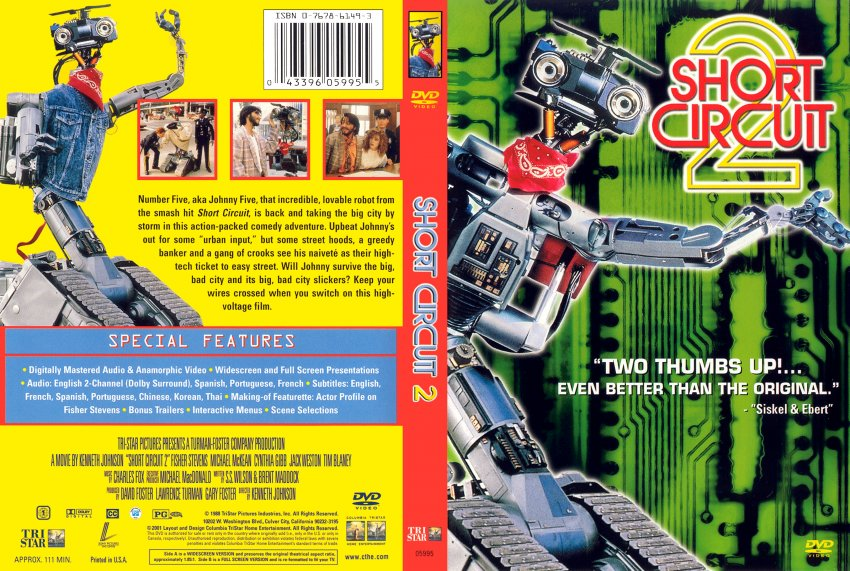 Short Circuit 2 Movie Dvd Scanned Covers 21shortcircuit2 Scan