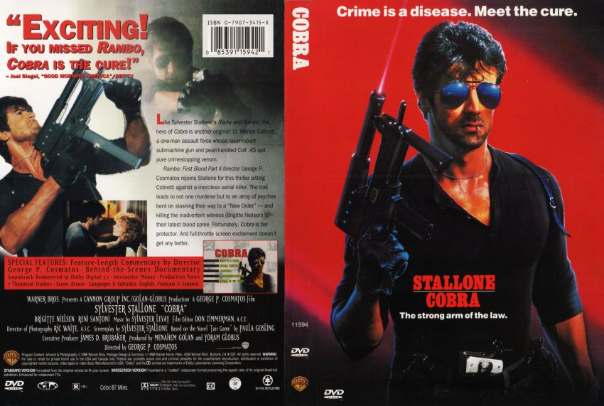Cobra Movie Dvd Scanned Covers 55cobra R1 English Scan