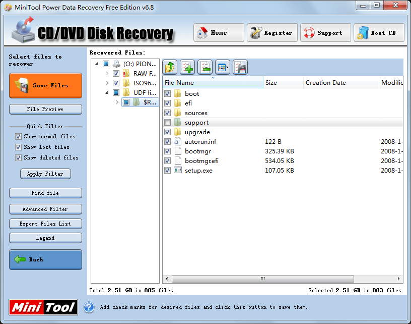 Recover data DVD2