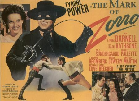 The Mark of Zorro one sheet