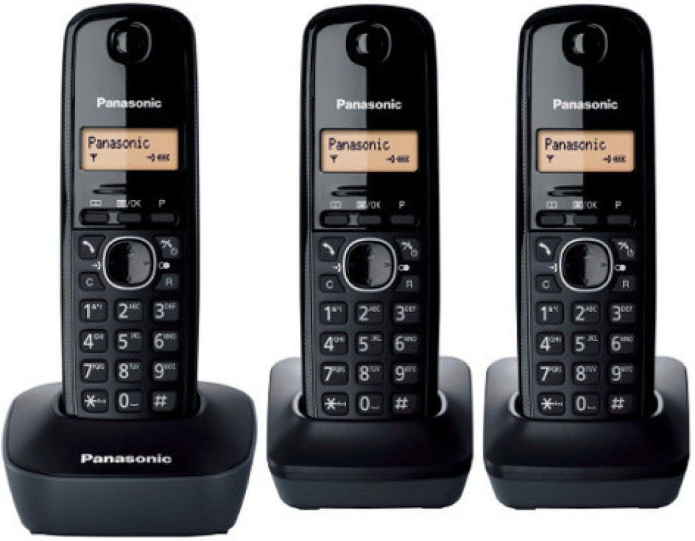 small resolution of panasonic kx tg1613 new 220 volt 3 handset cordless phone 220v 240v for overseas use