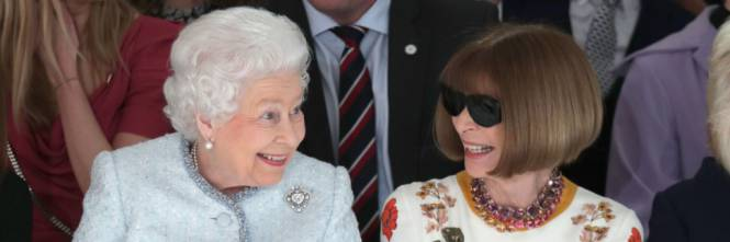 Anna Wintour and Queen Elisabeth II