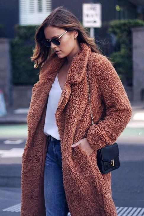 teddy bear coat rosa