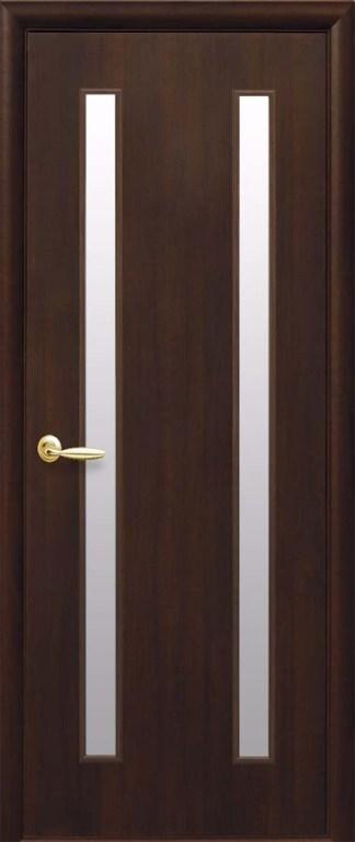 Двери Вера Новый Стиль Орех premium со стеклом сатин