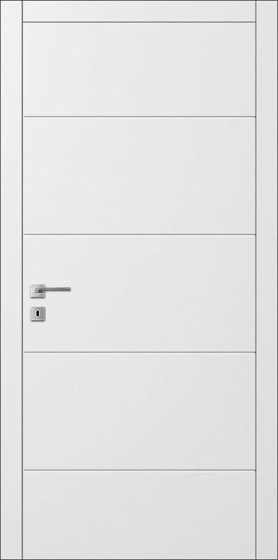 Межкомнатные двери Avangard AL 2 белого цвета