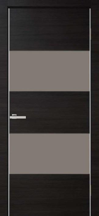 Межкомнатные двери Cortex Alumo 04 graphite wenge line с алюминиевыми торцами