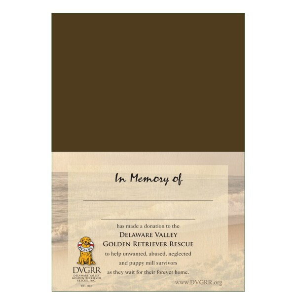 Donation Greeting Card Treasured Memory of a Pet The
