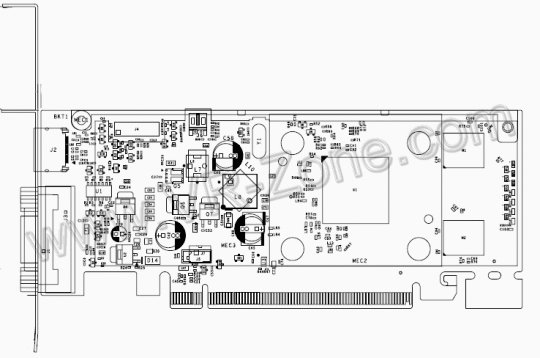 NVIDIA GT218 card drawing and specifications unveiled