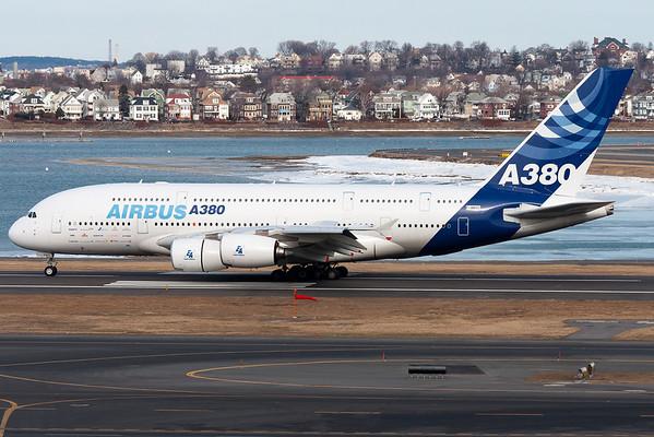 Airbus A380 F-WWDD at Boston