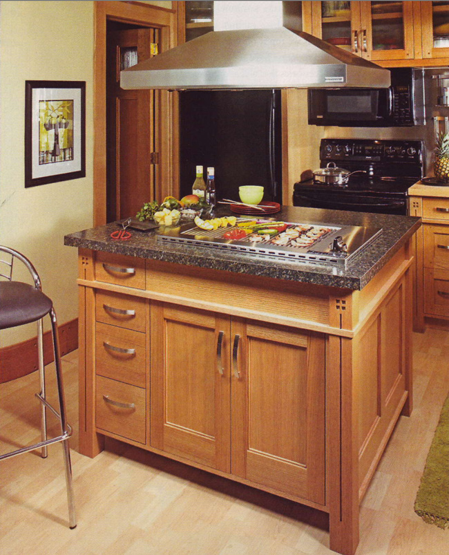 kitchen grills how to build cabinets indoor for the home by profire as featured in workbench magazine s dream