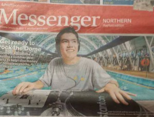 The Messenger in 2014 for Rock The Dome raising funds for homelessness (Playford YAC)