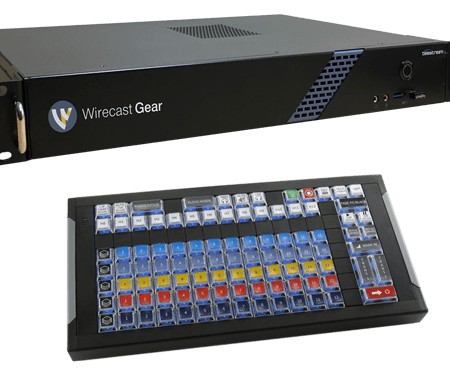 Wirecast Gear with X-Keys Control Surface