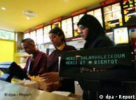 Muslims order halal burgers at a Burger King in France