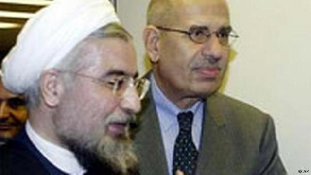 Mohammed el Baradei Internationale Atomenergiebehörde mit Hassan Rowhani (AP)