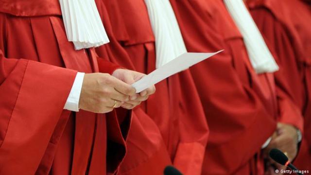 Richter des Bundesverfassungsgerichts in Karlsruhe. (Bild: Uli Deck / dpa)