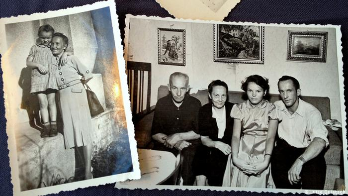 "Old photos of Luise Quietsch and her Lithuanian ""adoptive family"" (Photo: Luise Quietsch via Monika Griebeler)"