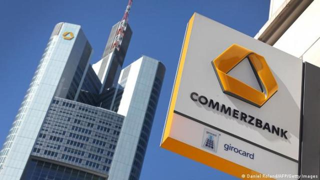 Logo Headquarters Commerzbank Frankfurt am Main (Daniel Roland / AFP / Getty Images)