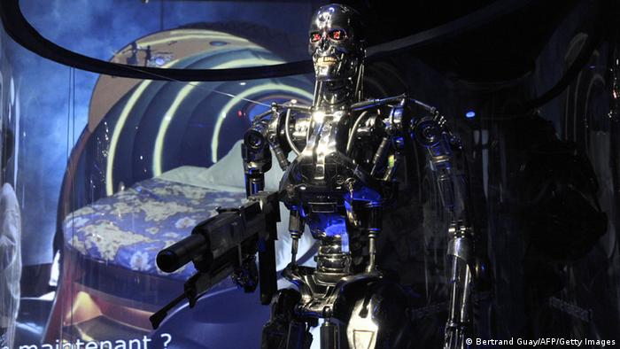 Terminator robot from the famous film
