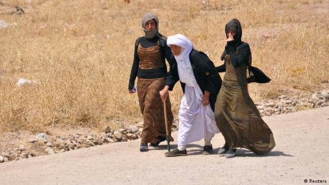 Jesiden auf der Flucht, August 2014  (Foto: REUTERS / Ahmed Jadallah)