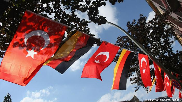 German and Turkish flags