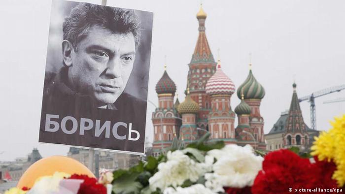 Gedenken an den ermordeten Boris Nemzow (picture-alliance/dpa)
