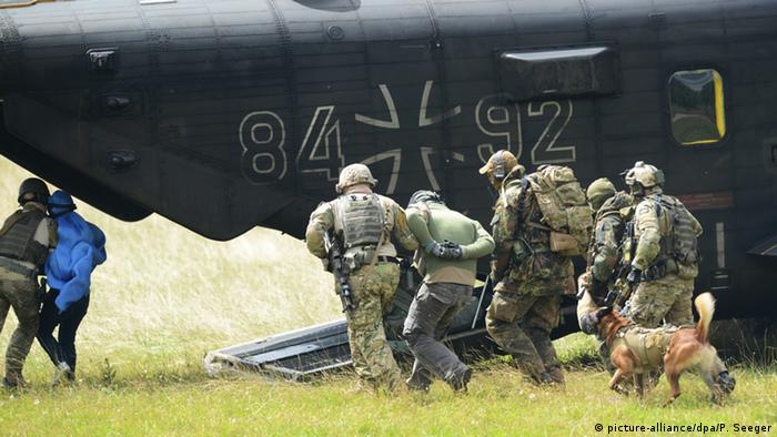 Germany's Special Forces Commando KSK practice in Calw