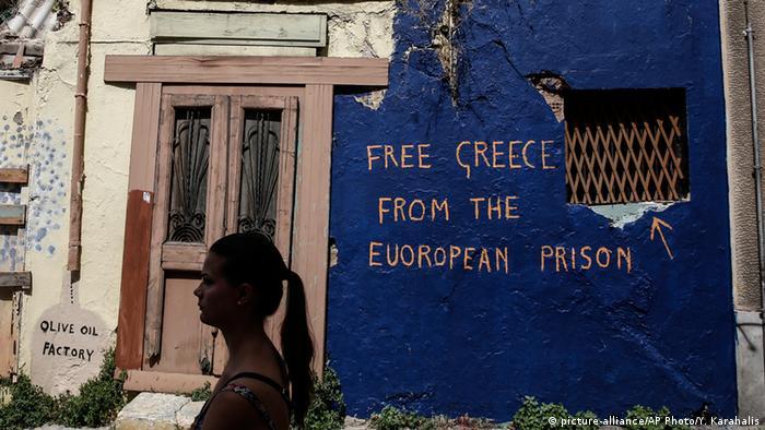 Griechenland Graffiti in Athen (picture-alliance/AP Photo/Y. Karahalis)