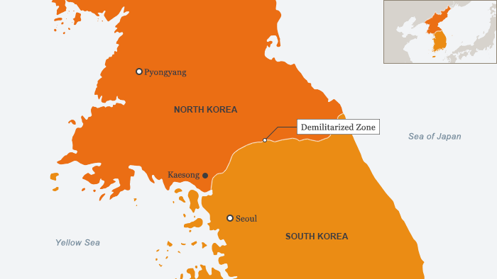 Map showing where the DMZ is
