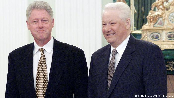 Russland Gespräche Präsidenten Bill Clinton & Boris Jelzin