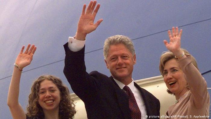 China Bill Clinton und Hillary Clinton in Peking