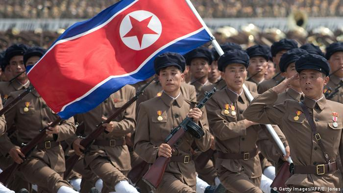 Nordkorea Militärparade (Getty Images/AFP/E. Jones)