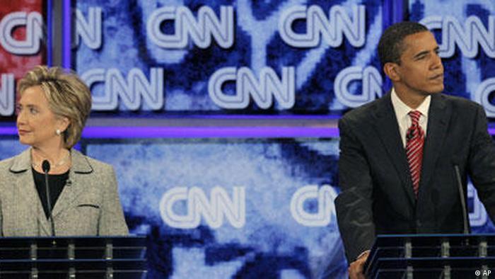 USA Vorwahlen Demokraten Hillary Rodham Clinton und Barack Obama in Las Vegas
